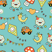 Cartoon children's seamless pattern — 图库矢量图片