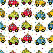 Cartoon funny cars. — Stock Vector