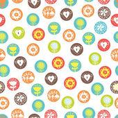 Nahtlose Muster, Polka Dot Stoff — Stockvektor