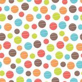 Seamless pattern, polka dot fabric — Stockvektor