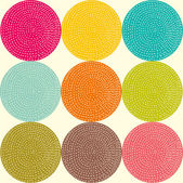 Seamless pattern with bright circles. — Vector de stock