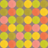 Seamless pattern with bright circles. — Stockvector