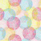 Seamless pattern with bright circles — Stok Vektör