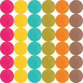 Seamless pattern with bright circles — Stockvector