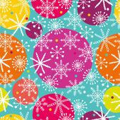 Jul seamless mönster med snöflingor. — Stockvektor