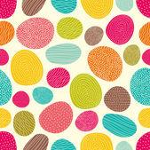 Colored stones. Bright seamless pattern. — Vector de stock