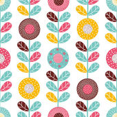 Ornate seamless pattern with the leaves. — Stock Vector