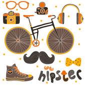 Hipster assina elementos. — Vetorial Stock