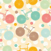 Seamless vector pattern about bicycles. — Stockvector
