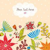 Cute postcard. — Stockvektor