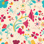 Delicate floral pattern. — Stock Vector