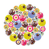 Flower circle. — Stock Vector