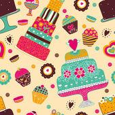 Słodki wektor wzór — Wektor stockowy