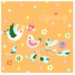 Cute spring background — Stock Vector #42124995