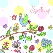 Cute spring background — Stock Vector #42133293