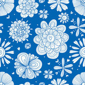 Cute seamless pattern with flowers. — Stock Vector
