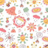 Flowers Seamless pattern. — Stock Vector