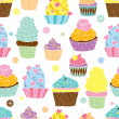 Cute cupcakes. — Stock Vector