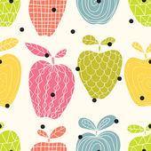 Motif de pommes colorées — Vecteur
