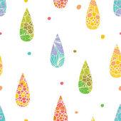 Raindrops seamless pattern — Stock Vector
