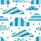 Nubes de lluvias — Vector de stock