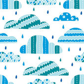 Rainy clouds — Stock Vector