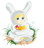 Baby Easter Bunny — Stock Vector