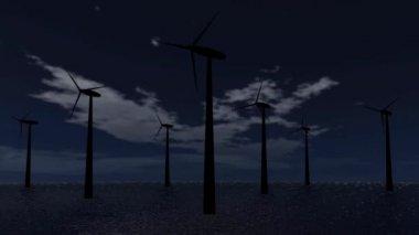 Wind energy turbine — Stockvideo