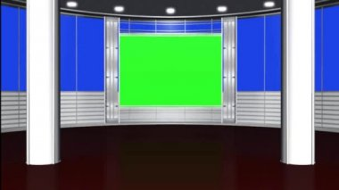 Virtual studio background - green screen — Stok video