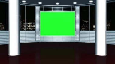 Virtual studio background - green screen — Stock Video