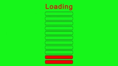 Loading bars vertically - green screen effect — Vídeo de stock