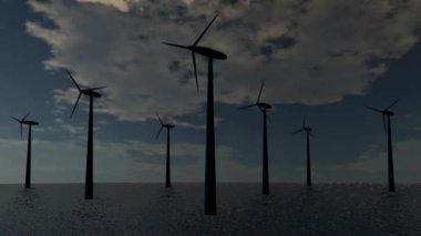 Wind energy turbine — 图库视频影像