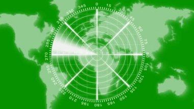 Radar animation on green screen — Stock Video