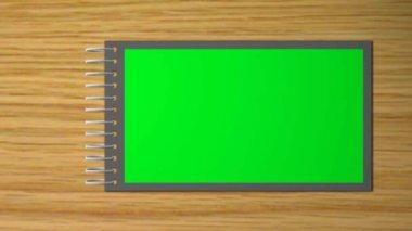 Raccoglitore virtuale con disabilita le pagine - verde - blu dello schermo — Video Stock