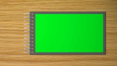 Virtual scrapbook with turn the pages - green -blue screen — Stock Video