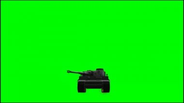 Military Armored Fighting Vehicle  in ride on green screen — Stock Video