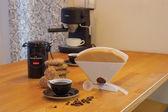 Everything you need to prepare coffee. — Stock Photo
