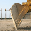 Foto Stock: Up Close With Back Hoe