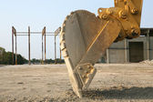 Up Close With a Back Hoe — Stock Photo