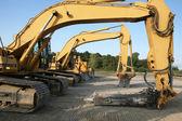 Construction Lineup — Stock Photo
