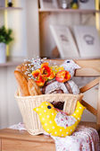 White basket with a variety of bread — Stock Photo