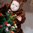 Baby boy dressed as a bear — Stock Photo #51540209