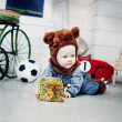 Baby boy dressed as a bear — Stock Photo #51540271