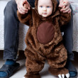 Baby boy dressed as a bear — Stock Photo #51540341
