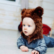 Baby boy dressed as a bear — Stock Photo #51540383