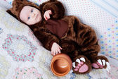 Baby boy dressed as a bear — Stock Photo