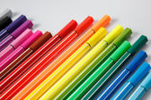 Color pen on white background — Stock Photo