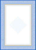 Bordo decorativo blu — Foto Stock