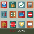 Flat icons set 3 — Stock Vector