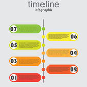 Time line 100 — Stock Vector